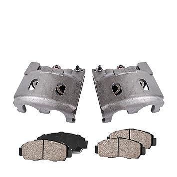 Hardware Kit REAR Premium Loaded Original Caliper Pair 2 Ceramic Brake Pads Callahan CCK04148