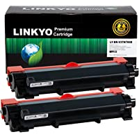 LINKYO Compatible Toner Cartridge Replacement for Brother TN760 TN730 (2-Pack, High Yield, Design V3)