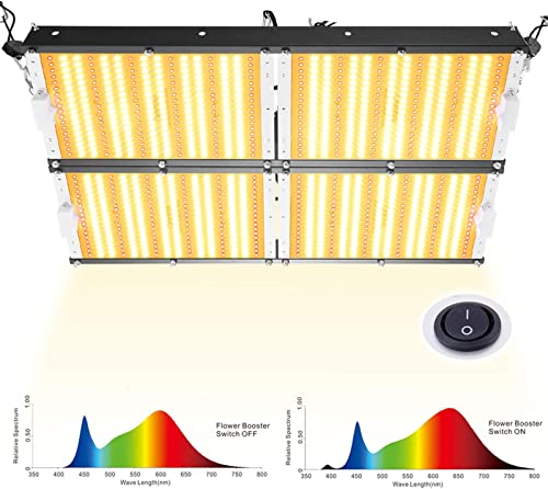 LED Grow Light Sunlike Full Spectrum Veg Bloom Switch Waterproof for Veg and Flower High PPF for 4×4 ft Coverage 1152 pcs 3500K White LEDs