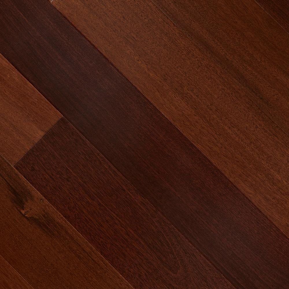 Santos Mahogany 3/8 in. Thick x 5 in. Wide x 47-1/4 in. Length Click Lock Hardwood Flooring (26.25 sq. ft. / case)