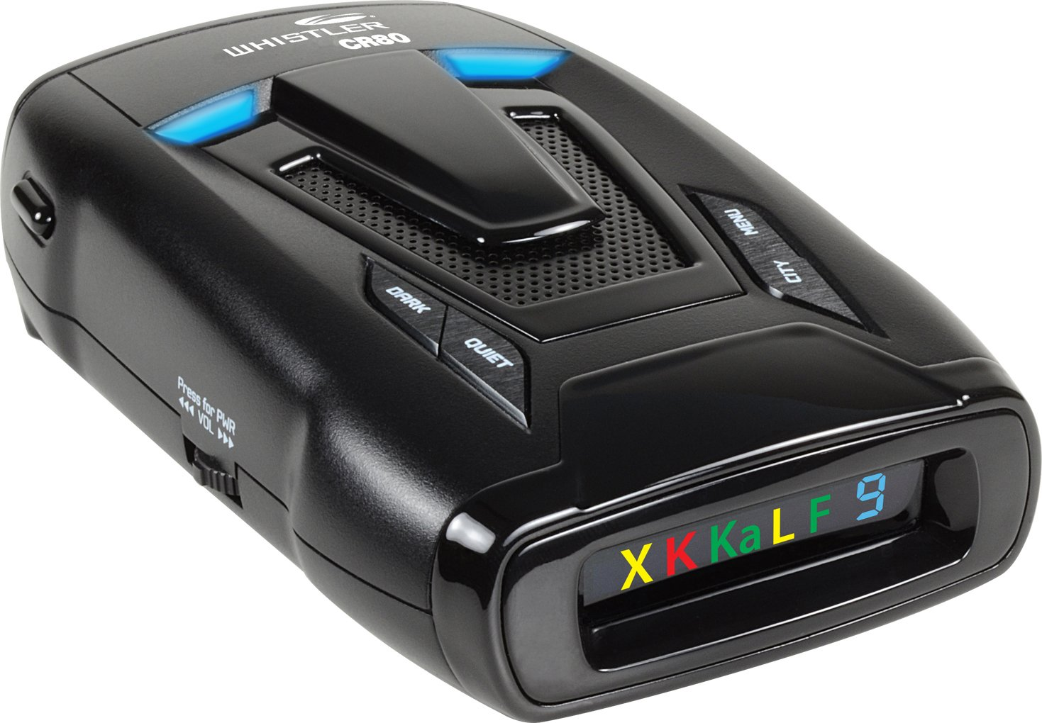 Whistler CR80 High Performance Laser Radar Detector: 360 Degree Protection and Voice Alerts