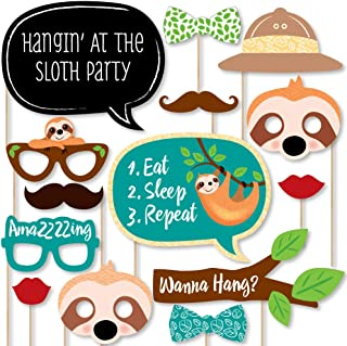 product image for Big Dot of Happiness Let's Hang - Sloth - Baby Shower or Birthday Party Photo Booth Props Kit - 20 Count