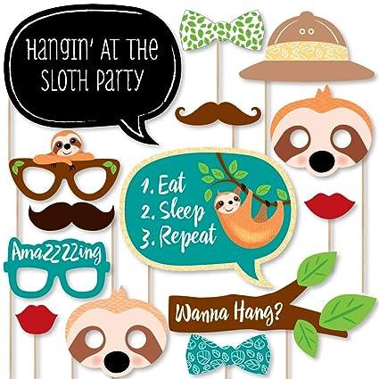 Amazon.com: Big Dot of Happiness Lets Hang – Sloth – Baby ...