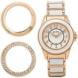 (フォリフォリ) FOLLI FOLLIE フォリフォリ 時計 FOLLI FOLLIE WF1R001BDW-XX チェンジャブルウォッチ 替えベセル付き レディース腕時計ウォッチ ホワイト/ピンクゴールド [並行輸入品]