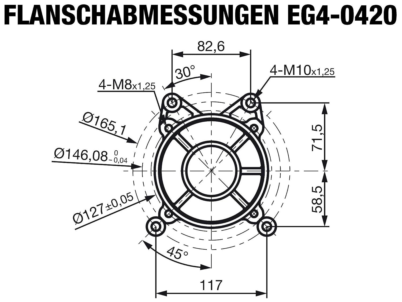EG4-0420-5H-S2 Rotek luftgek/ühlter 1-Zylinder 4-Takt 419ccm Benzinmotor