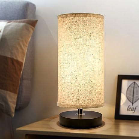 Bedside Table Lamp, Aooshine Minimalist Solid Wood Table Lamp Bedside Desk  Lamp Simple Desk Lamp