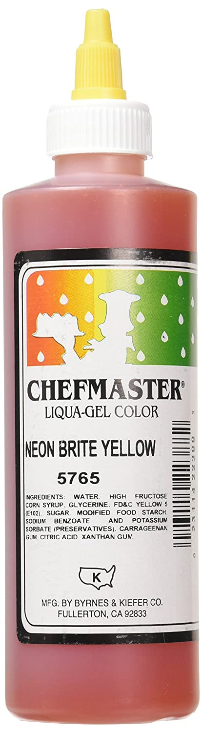 Chefmaster Liqua-Gel Food Color, 10.5-Ounce, Neon Brite Yellow