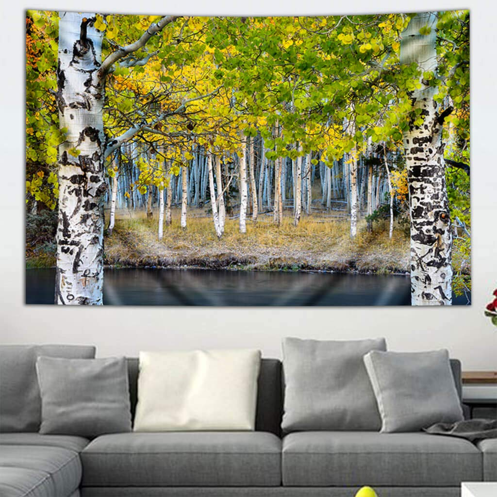 """Photography Art Tapestry Third Eye Tapestries /""""Canary Canal/"""" Wall Tapestry by Chris Miele 60 by 90 inches Hanging Modern Art Tapestry"""