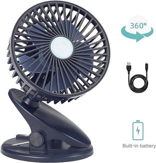 MMPY Ventilador de escritorio, Mini ventilador de clip portátil ...
