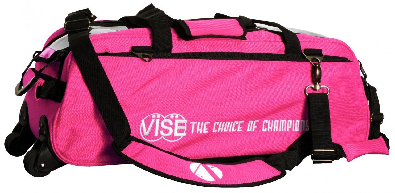 Vise Three Ball Tote Roller Bowling Bag, Pink