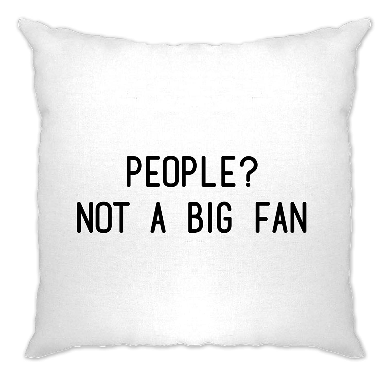 Awkward Cushion Cover Sofa Home People Not A Big Fan Antisocial Slogan Offensive Awkward Social Socialising Friends Enemies Cool Funny Gift Present A-CC-01809-NAT
