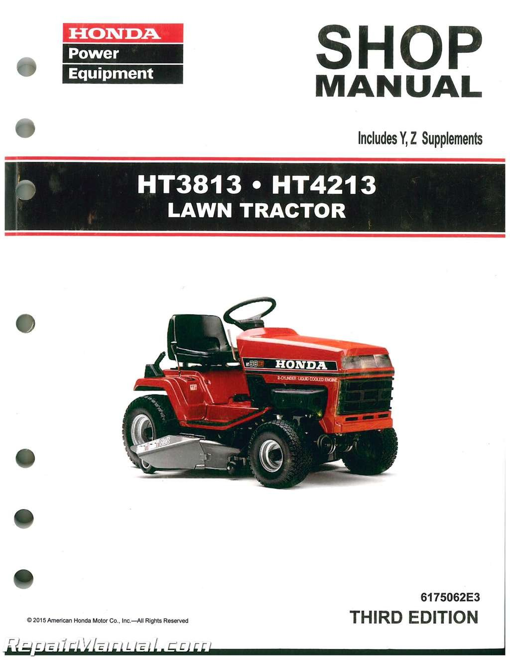 Astonishing 6175062E3 Honda Ht3813 Ht4213 Lawn Tractor Shop Manual Manufacturer Wiring Digital Resources Dimetprontobusorg