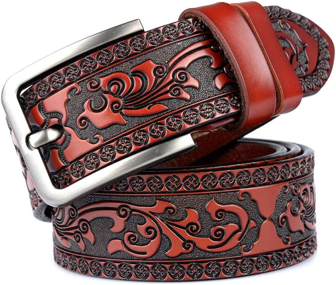 JUIHUGN Factory Direct Belt Wholsale Price Designer Belt Genuine Leather Belts for Men Assurance red Brown 120cm