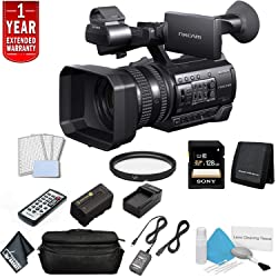 Sony HXR-NX100 Full HD NXCAM Camcorder Bundle with 1 Year Extended Warranty + Sony 128GB SDXC Memory Card + More