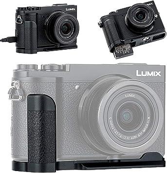 No Blocking to Interfaces Jack /& Battery Memory Card Compartment Metal Hand Grip L Bracket for Panasonic Lumix GX9 GX85 GX80 GX7 Mark III II Anti-Slip Holder Replaces Panasonic DMW-HGR2 Camera Grip