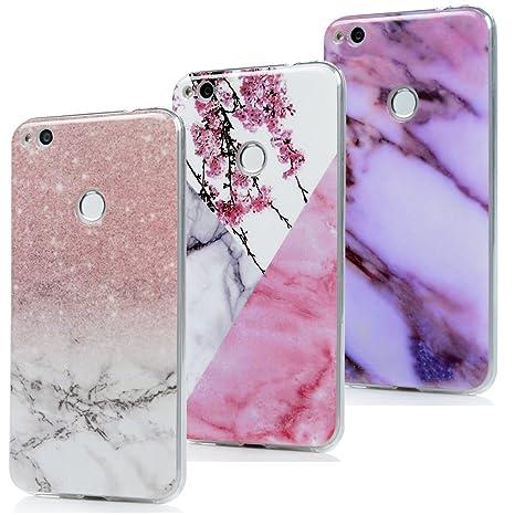 YOKIRIN P8 Lite 2017 Case Silikonhülle für Huawei P8 Lite 2017 Schutzhülle Marmor TPU Silikon Case Cover Handyhülle Flexible
