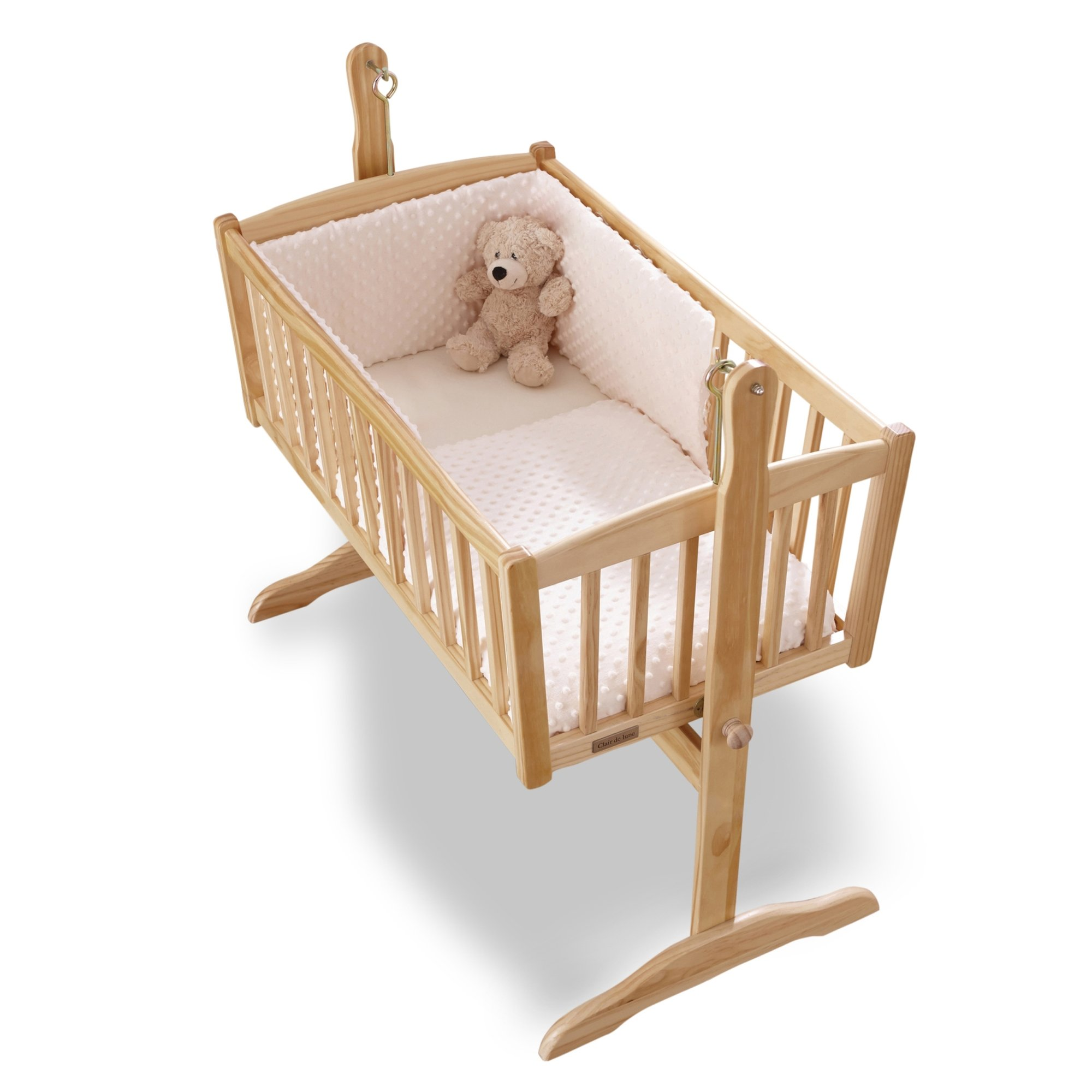Clair de Lune Dimple Rocking Crib/ Cradle Quilt and Bumper Set (Cream) by BabyCentre