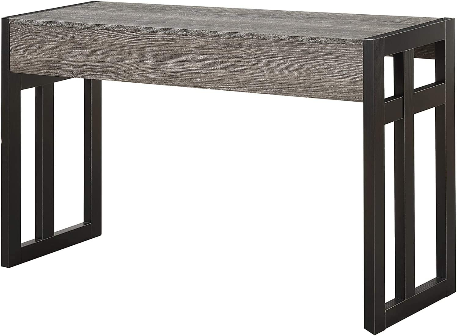 Convenience Concepts Monterey Console Table, Weathered Gray / Black Frame