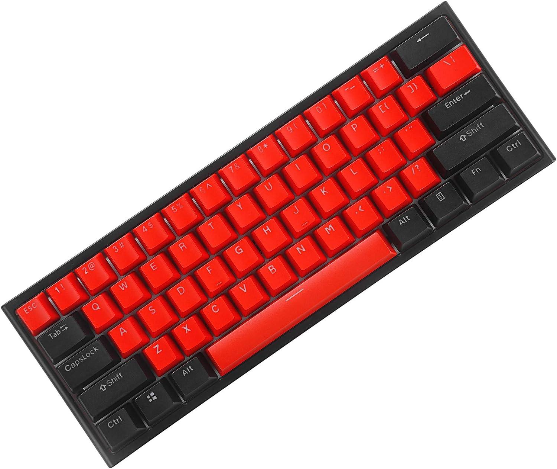 BOYI Shine-Through Teclas, 61 teclas ANSI diseño OEM perfil PBT gruesas teclas para 60% teclados mecánicos (teclas de color 1)