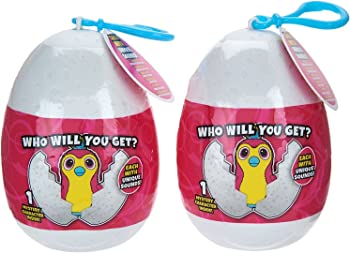 2-Pack The Wish Factory Hatchimals Backpack Clip Keychain