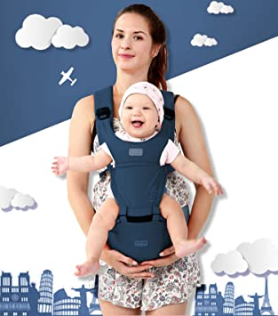 c4abfc30b6c 360° Ergonomic Baby   Child Carrier Hip Seat All Carry Positions for Infant  Toddler and