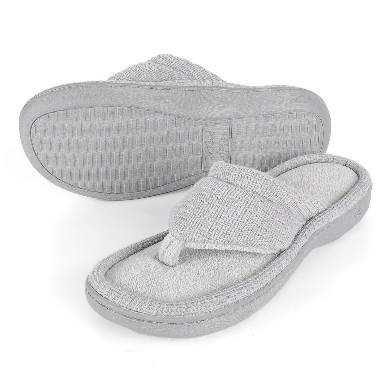 2c87c519c6f Wishcotton Womens Jersey Flip Flop Slippers Open Toe Slip On Slippers   Amazon.co.uk  Shoes   Bags