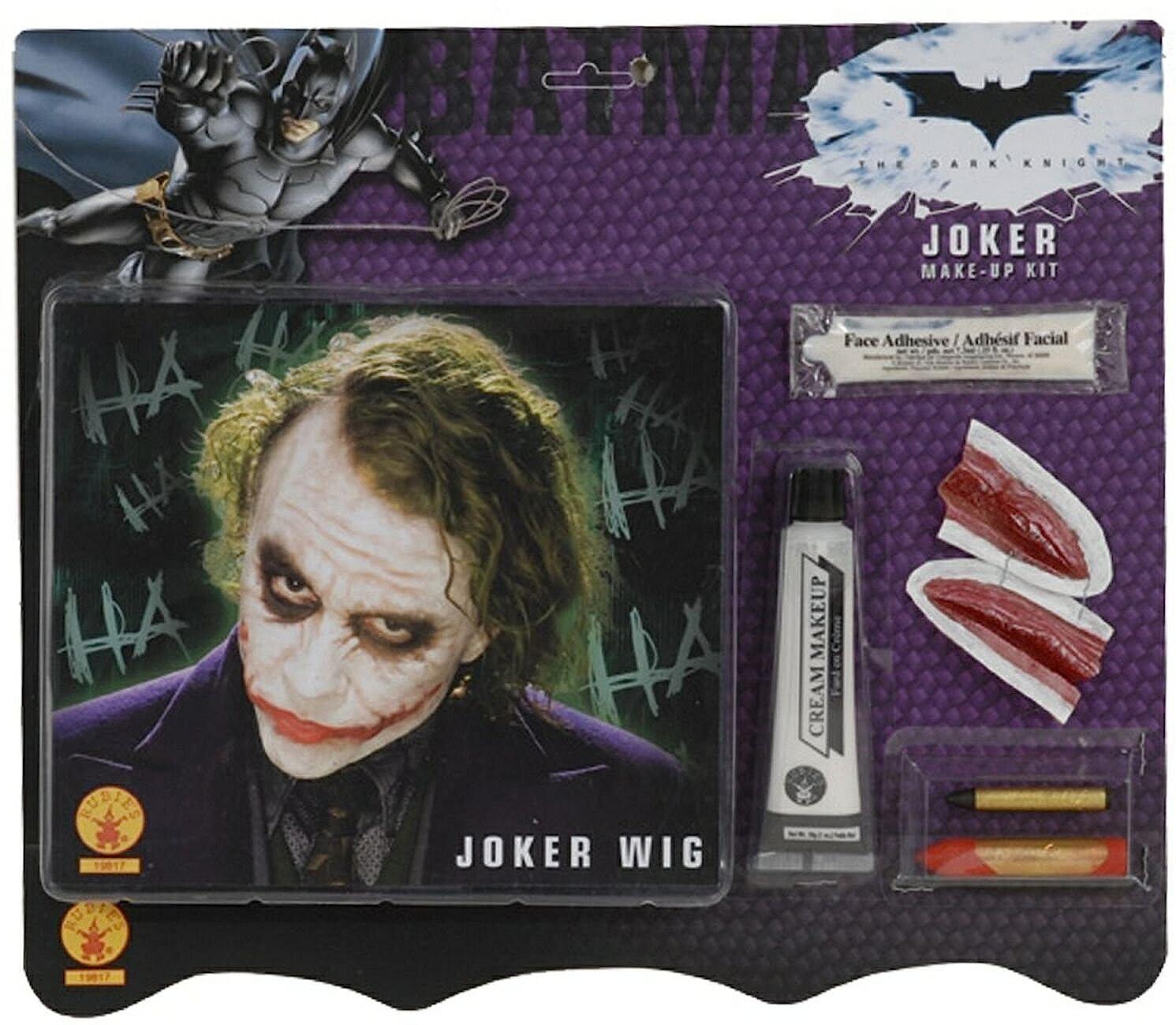 Joker Wig & Makeup Kit Rubies