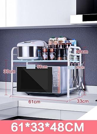 GRY Rack de cocina doble / Horno de microondas Rack / Horno Rack ...