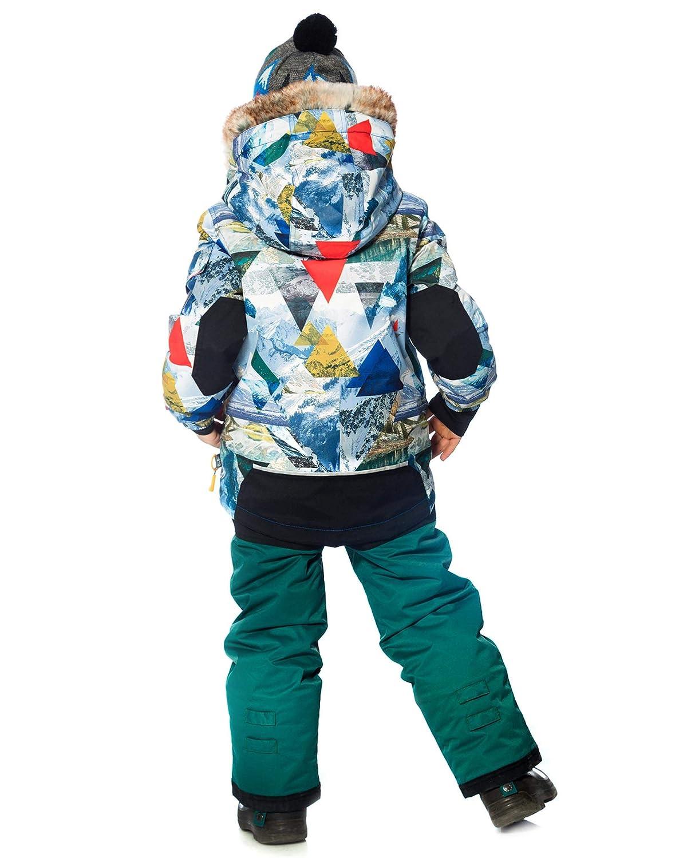 Sizes 4-14 Deux par Deux Boys 2-Piece Snowsuit Rock The Mountain Green