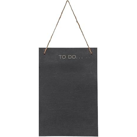 VonShef Pizarra Grande Negra para Tiza Tablón de Anuncios- 30cm x 20cm – Tablero sin Marco