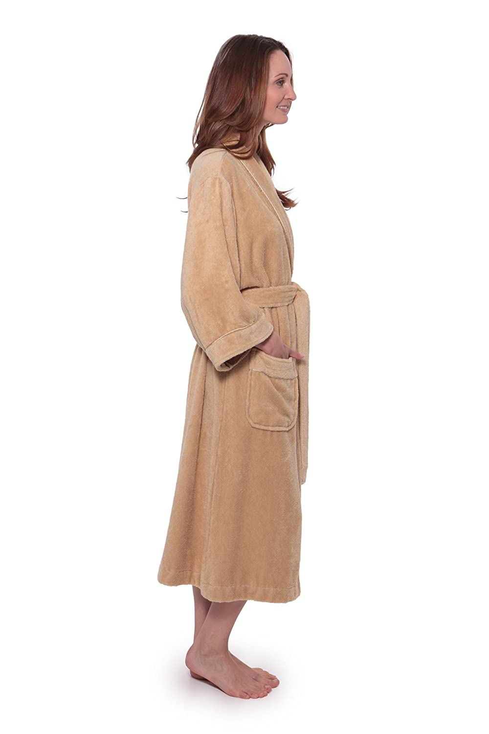 Womens Luxury Terry Cloth Bathrobe Bamboo Viscose Robe By Texere Lingerie Favorit Xo 55 Ecovaganza At Amazon Clothing Store
