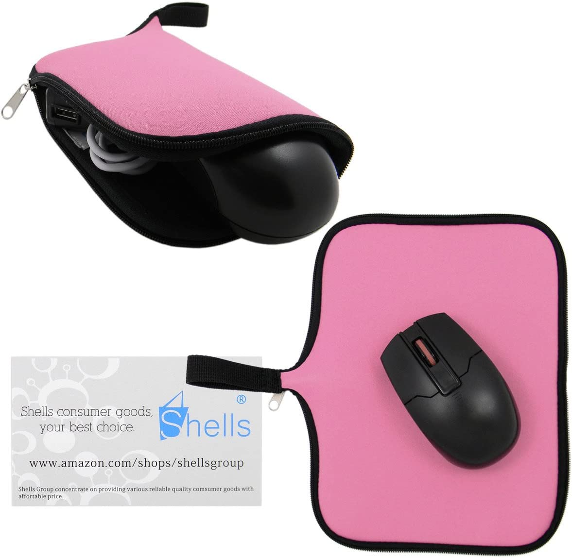 Shells Hot Pink Color A3 Neoprene Soft Magic Mouse Bag Multi-functional Digital Bag Waterproof Speed Mouse Pad