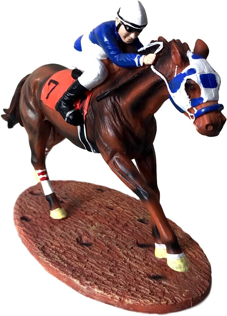 Race Horse Figurine Statue Decor Thoroughbred with Jockey Horse Racing