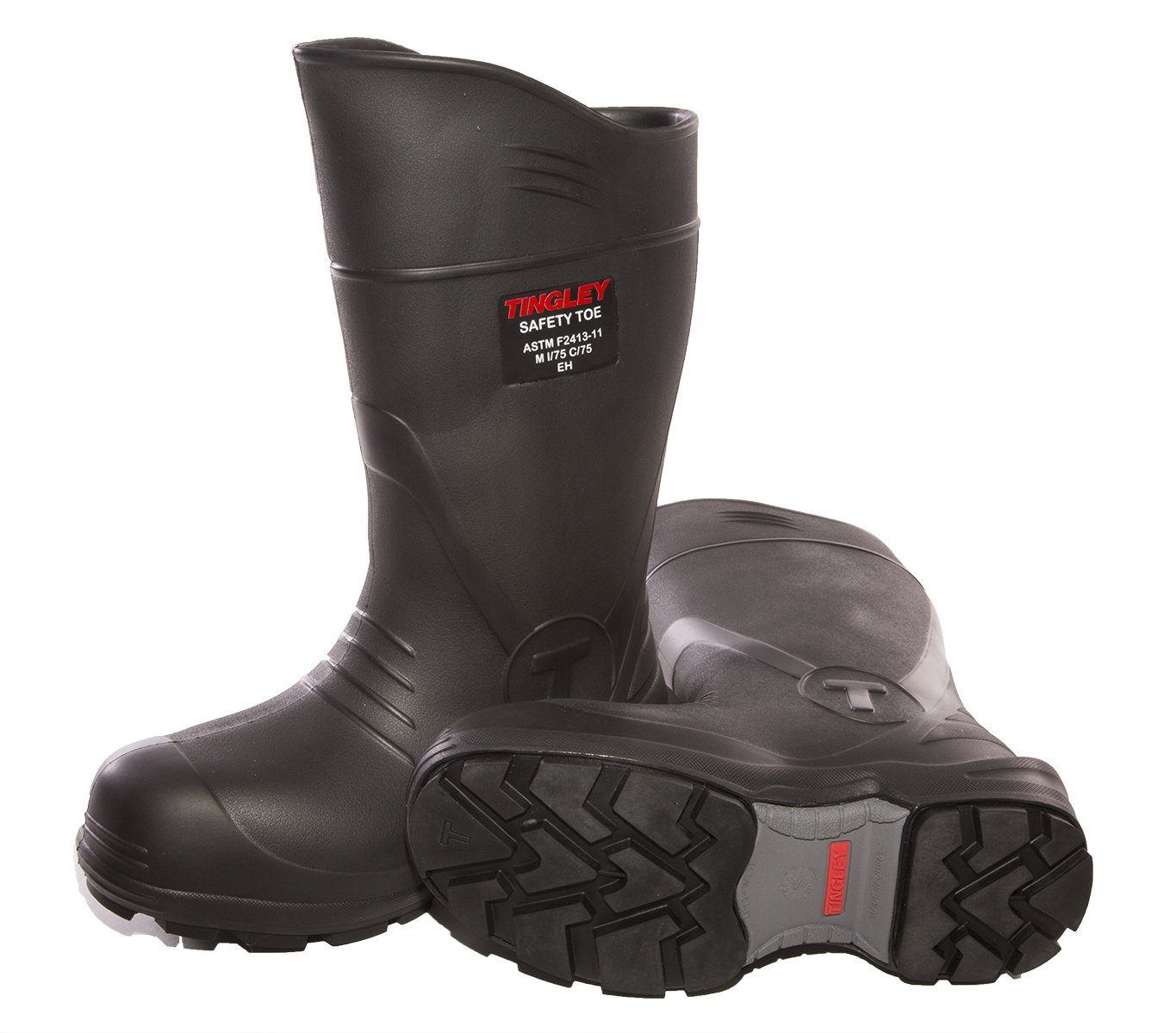 TINGLEY 27251.13 27251 SZ13 Footwear: Boots-Rubber Safety Toe, 13 Black