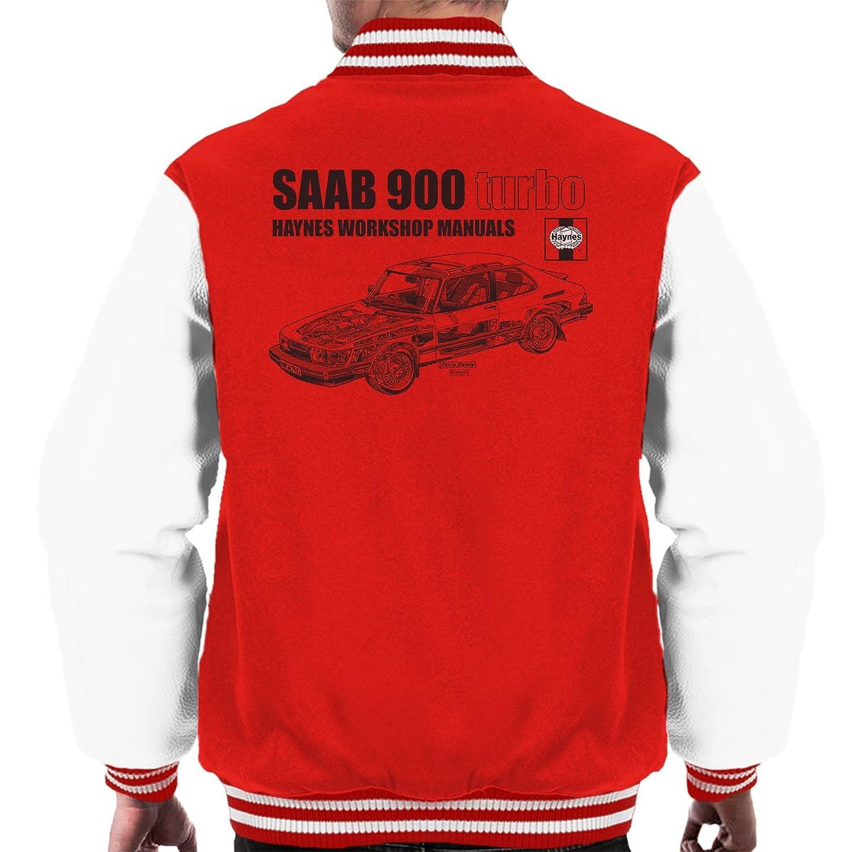Haynes Workshop Manual 0765 Saab 900 Turbo Black Mens Varsity Jacket: Amazon.es: Ropa y accesorios