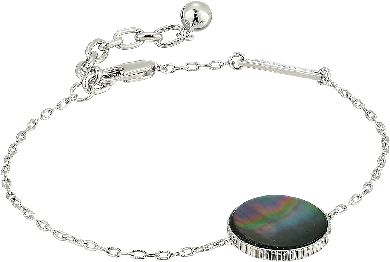 Amazon.com  Marc Jacobs Women s Medallion Chain Bracelet Silver One Size   Jewelry 2917032a0f