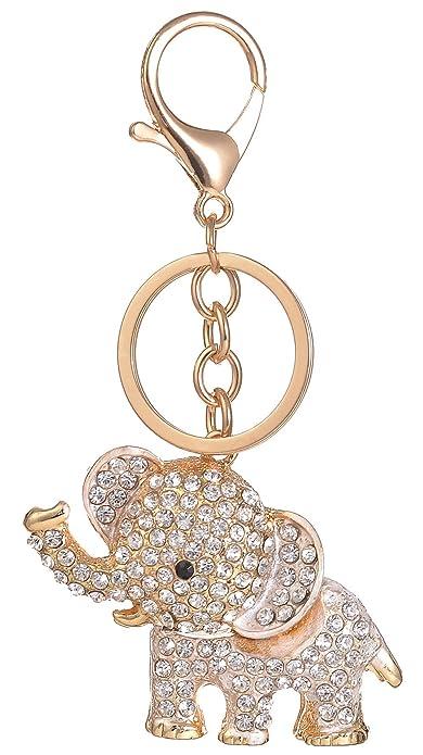 91d8436cac7f Giftale Elephant Handbag Charms Accessories Purse Keychain for Women,#4182