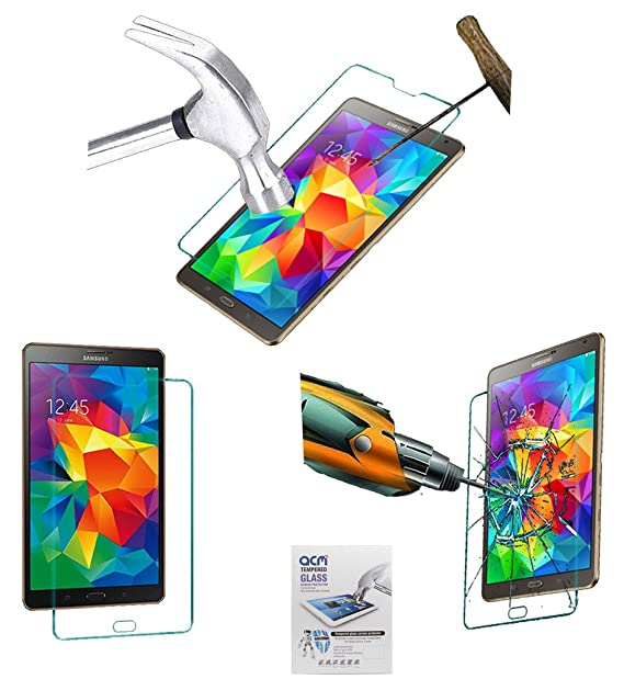 ACM Tempered Glass Screenguard for Samsung Galaxy Tab S 8.4 Tab Tablet Screen Guard Scratch Protector Screen Protectors