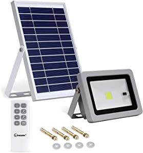Lineway Solar Flood Lights Outdoor Dusk to Dawn LED Solar Lights Remote Control Solar Security Light 3 Modes 10W 800LM Solar Flood Lights Motion Sensor IP65 Waterproof for Garden Yard Pool Barn Lawn