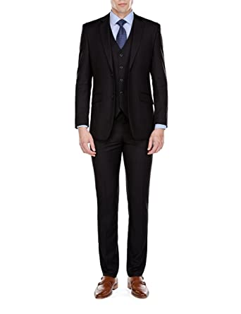 a0dfcc8b36987 Braveman Mens Slim Fit 3 Piece Suit at Amazon Men's Clothing store: