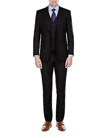 8e6a9cc3b79c Braveman Mens Slim Fit 3 Piece Suit at Amazon Men's Clothing store: