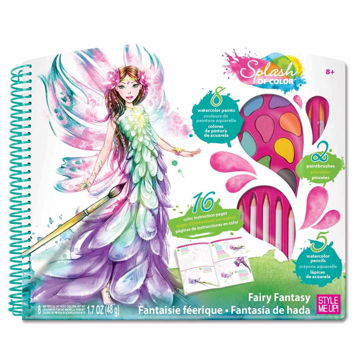 Amazon.com: Style Me Up - Creative Craft Kit - Set of Watercolor ...