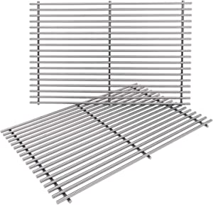 GASPRO 7528 Grill Grates for Weber Genesis 300 Series, 19.5 Gill Part for Genesis E310, E330, Durable Stainless Steel, 19.5 x 12.9 Inches, 2-Pack