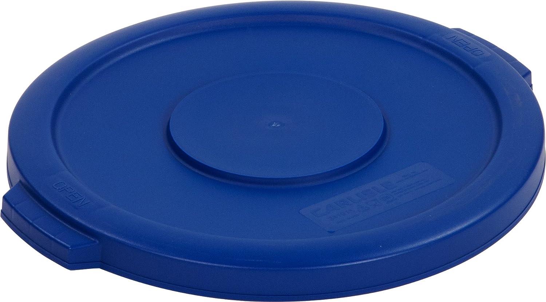 Carlisle 34101114 Bronco Round Waste Bin Food Container Lid, 10 Gallon, Blue