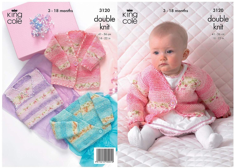 Amazon King Cole Double Knitting Pattern Babies Splash Dk