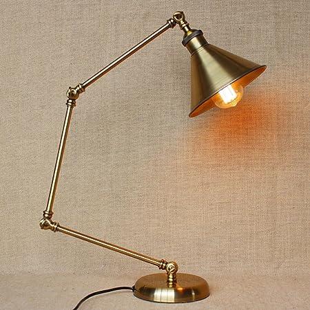 Pointhx Lámpara de mesa de brazo largo mecánico ajustable Lámpara ...