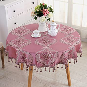 Amazon.com: Tablecloth european round table living room tablecloth ...