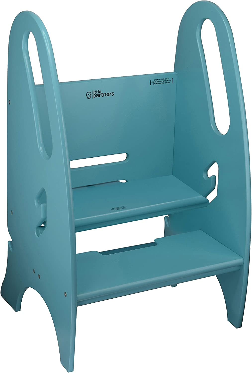 Wooden Non-Tip Design Step Stool with 3 Position Height Adjustment for Both Toddlers /& Adults Supports Up to 150lbs Little Partners Adjustable Height Growing Step Stool