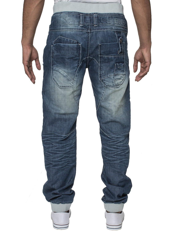 Eto Mens Designer Jeans Cuffed Leg Jogger Denim Pants Bottoms in 6 Styles   Amazon.co.uk  Clothing 1f9d0398abb