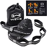 Hammock Straps Extra Strong & Lightweight,36 Loops, 2000LBS Breaking Strength,100% No Stretch Polyester,Tree Friendly,Quick&Easy Setup Best Suspension System